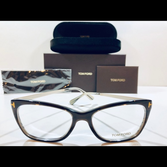 4037a582950c Tom Ford Eyeglasses Dark Brown w  Gold New 52mm